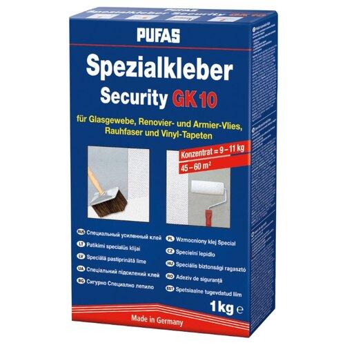 клей для обоев pufas gt vlies direkt 0 325 кг Клей для обоев PUFAS Security GK 10 для стекловолокна и флизелина 1 кг