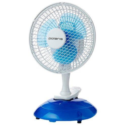 Настольный вентилятор Polaris PCF 15W голубой/белый