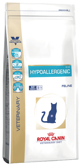 Корм для кошек Royal Canin Hypoallergenic при проблемах с ЖКТ, при аллергии