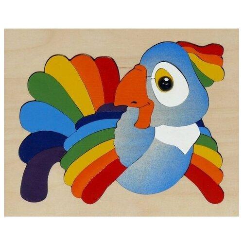 Рамка-вкладыш Крона Попугай (143-017), 29 дет. рамка вкладыш крона азбука в картинках 143 073 50 дет