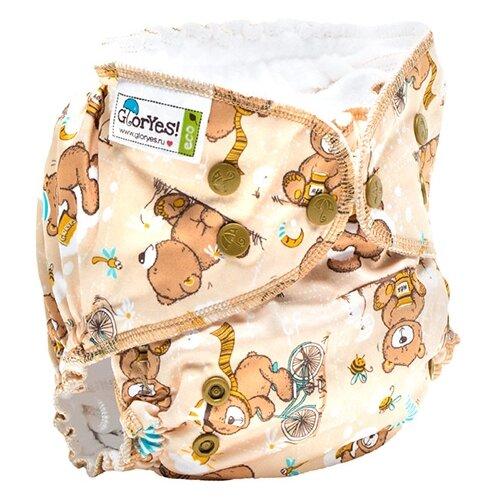Купить GlorYes! подгузники Classic+ (3-18 кг) 1 шт. медвежонок, Подгузники