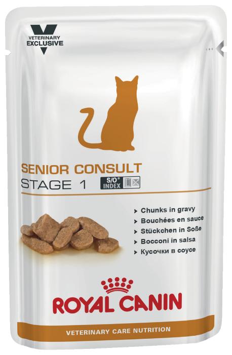 Влажный корм для пожилых кошек Royal Canin Senior Consult Stage 1, профилактика МКБ 100 г (кусочки в соусе) в интернет-магазинах — цены на Яндекс.Маркете
