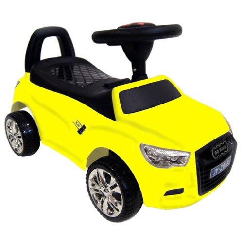 Купить Каталка-толокар RiverToys Audi JY-Z01A со звуковыми эффектами желтый, Каталки и качалки