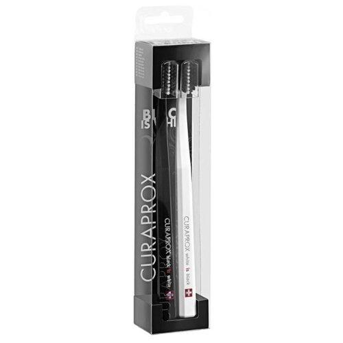 Зубная щетка Curaprox CS 5100 Ultra Soft, черный / белый, 2 шт. зубная щетка cs 1560 soft curaprox