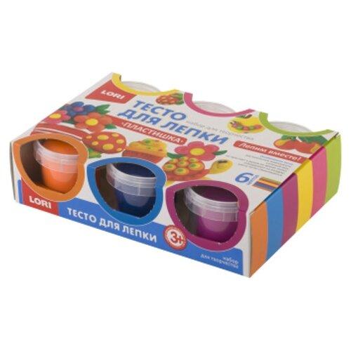 Купить Масса для лепки LORI Пластишка №10 - 6 цветов (Тдл-013), Пластилин и масса для лепки