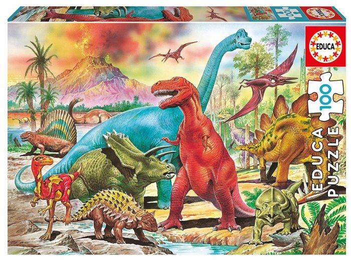 Купить <b>Пазл Educa</b> Динозавры (13179), 100 дет. по выгодной ...
