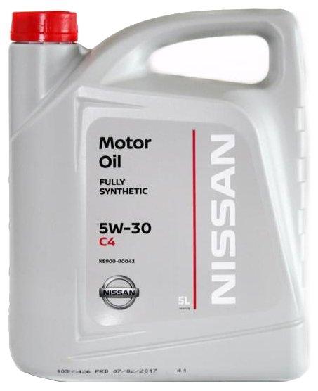 Моторное масло NISSAN Motor Oil SAE 5w30 DPF 5 л