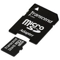 Transcend TS32GUSDHC10 microSDHC 32GB + SD адаптер (32 Гб) - Карта флэш-памяти