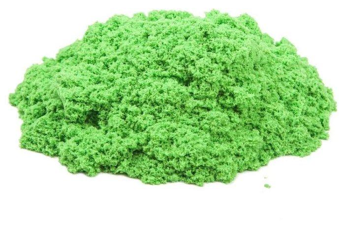 Кинетический песок Космический песок базовый, зеленый, 0.5 кг, пластиковый контейнер