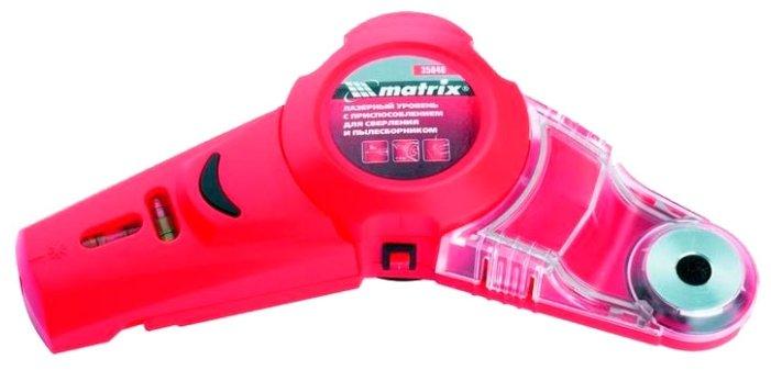 Лазерный уровень matrix с приспособлением для сверления и пылесборником (35040)