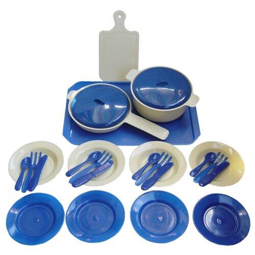 Набор посуды СТРОМ Кухонный У525 синий/белый