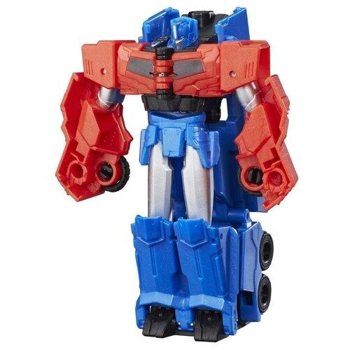 цена на Трансформер Hasbro Transformers Оптимус Прайм. Уан-Стэп (Роботы под прикрытием) C0648 красный/синий