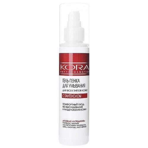 Kora гель-пенка для умывания для всех типов кожи с пантенолом, 150 мл point пенка скраб для умывания глубокое очищение для всех типов кожи 150 г