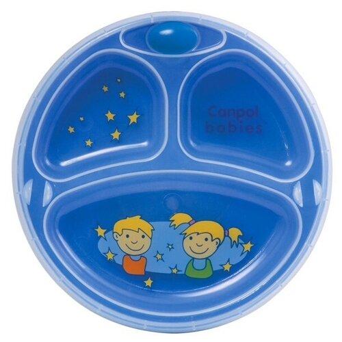 Тарелка Canpol Babies с присоской (9/216) синий цена 2017