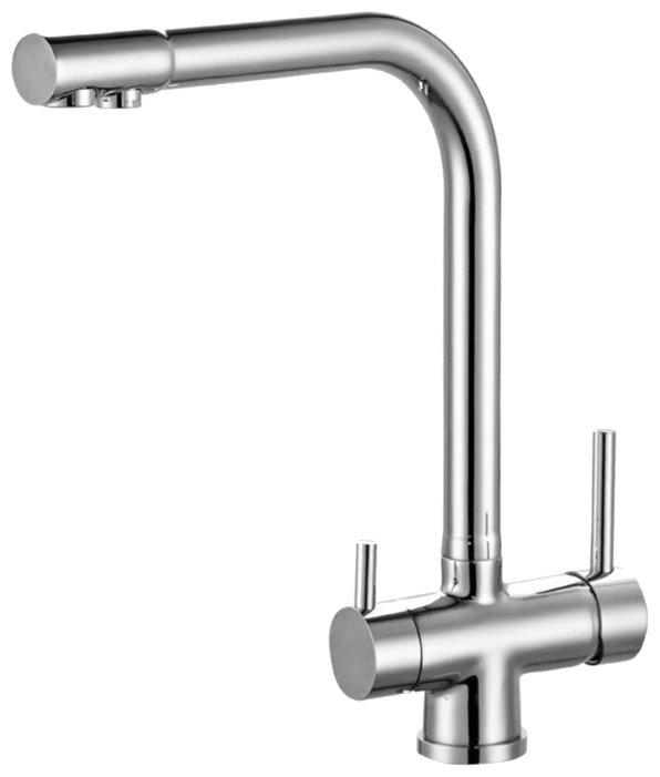 Однорычажный смеситель для кухни (мойки) ZorG ZR 348 YF хром