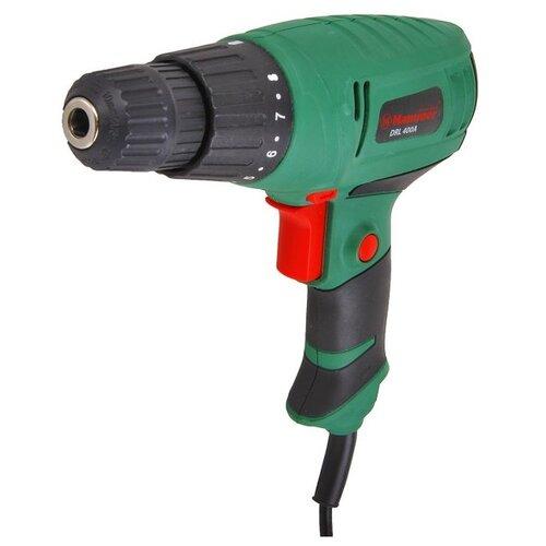 Дрель-шуруповерт Hammer DRL400A черный/зеленыйШуруповерты<br>