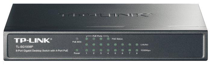 TP-LINK Коммутатор TP-LINK TL-SG1008P