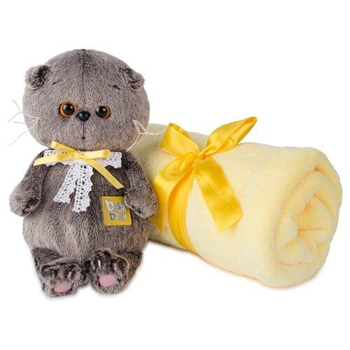 Купить Мягкая игрушка Basik&Co Кот Басик baby с детским пледом 20 см, Мягкие игрушки