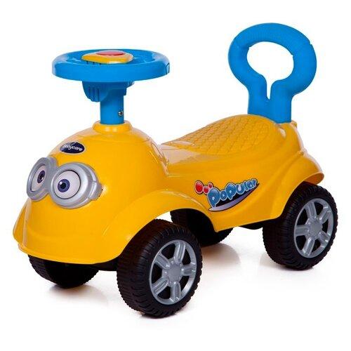 Купить Каталка-толокар Baby Care QT Racer (615B) со звуковыми эффектами желтый, Каталки и качалки
