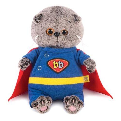 Купить Мягкая игрушка Basik&Co Кот Басик baby в костюме супермена 20 см, Мягкие игрушки