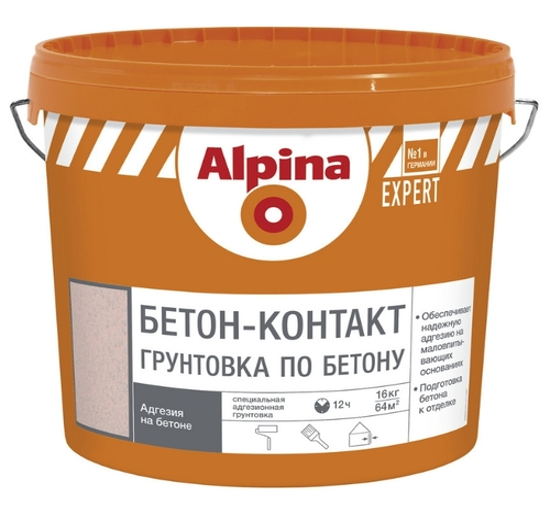 Грунт альпина эксперт бетоноконтакт купить декаративный наливной пол казань