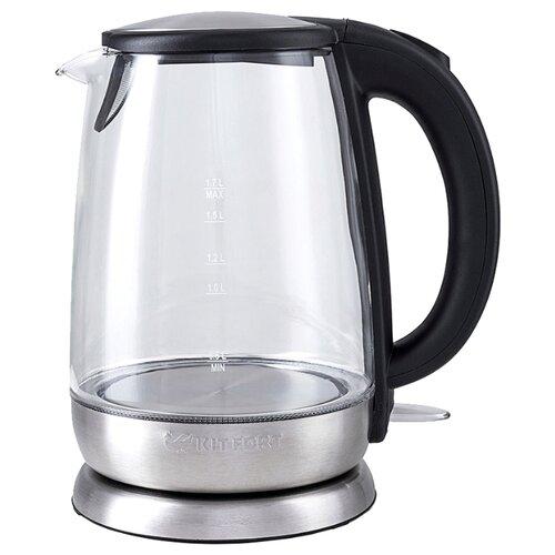Чайник Kitfort KT-619, серебристый