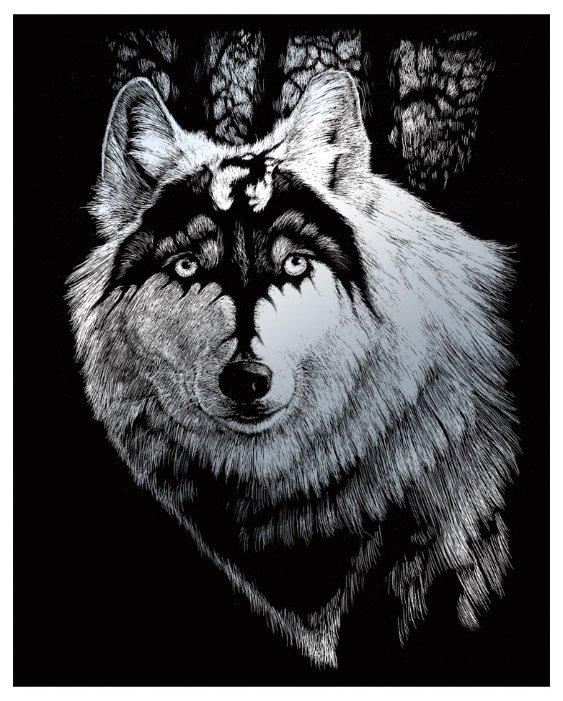 Гравюра Royal & Langnickel Волк-дракон (SILF28) серебристая основа