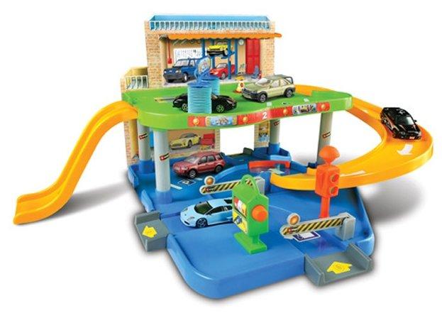 Bburago Игровой набор Street Fire Auto Service парковка, заправка, мойка, сервис 1830039
