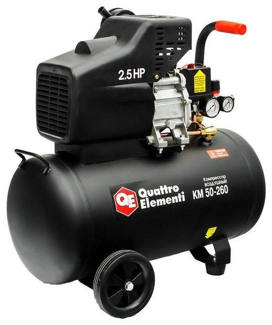 Компрессор масляный Quattro Elementi KM 50-260, 50 л, 1.8 кВт