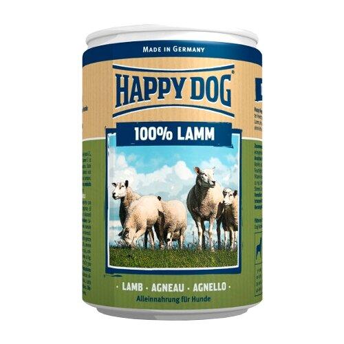 Влажный корм для собак Happy Dog 100% Мясо Фермерский продукт, ягненок 400 г