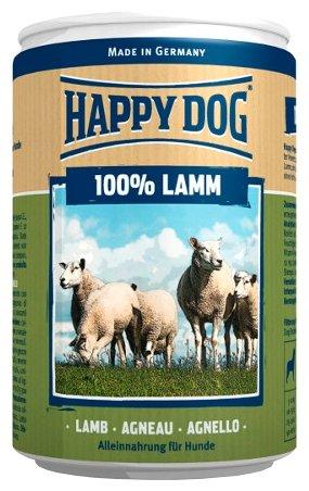 Корм для собак Happy Dog 100% Мясо Фермерский продукт ягненок 16шт. х 400г