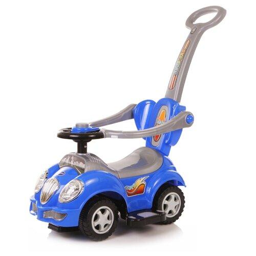 Купить Каталка-толокар Baby Care Cute Car (558) со звуковыми эффектами синий/серый, Каталки и качалки