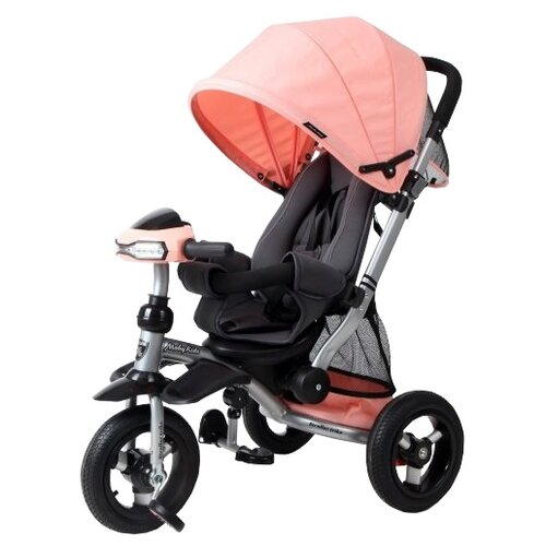 Купить Трехколесный велосипед Moby Kids Stroller trike 10x10 AIR Car персиковый, Трехколесные велосипеды