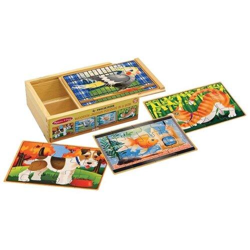 Купить Набор пазлов Melissa & Doug Домашние животные (3790), Пазлы