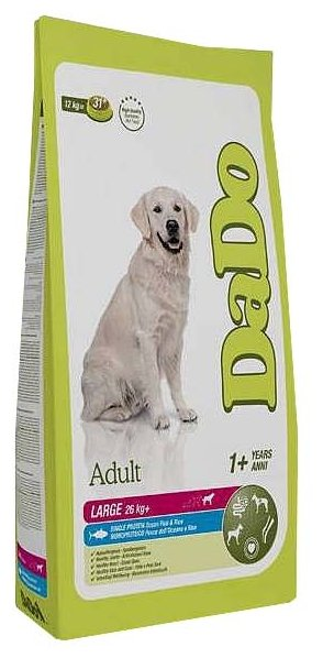 Корм для собак DaDo Для собак крупных пород с океанической рыбой и рисом