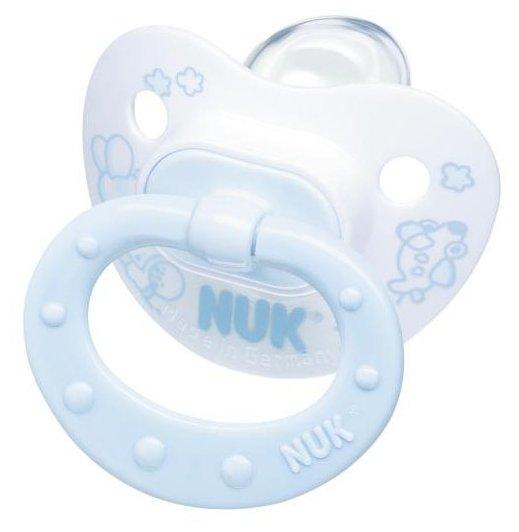 Пустышка силиконовая ортодонтическая NUK Classic Rose&Blue 0-6 м (1 шт)
