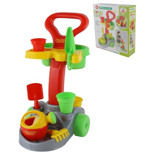 Купить Набор Palau Toys Садовник 36599 красный/желтый/зеленый, Наборы в песочницу