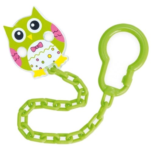 Купить Держатель пустышки Canpol Babies Owls 0 м (1 шт.) зеленый, Пустышки и аксессуары