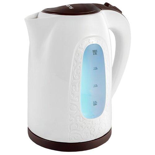 Чайник Polaris PWK 2077CL, белый/бургунди недорого