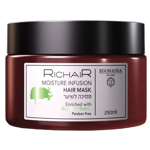 Egomania RicHair Moinsture Infusion Маска для волос «Интенсивное увлажнение» с маслом авокадо, 250 мл