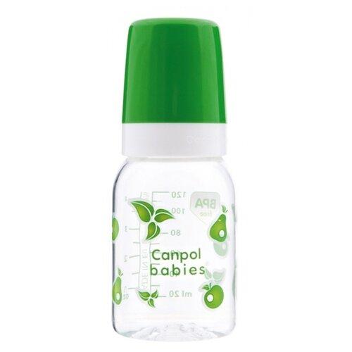 Купить Canpol Babies Бутылочка тритановая 120 мл с 3 мес., зеленый, Бутылочки и ниблеры