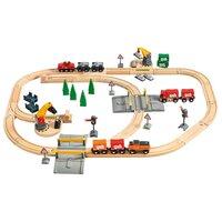 Набор железнодорожный Brio с подъемниками переездами грузами и поездом