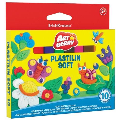 Купить Пластилин ErichKrause Artberry 10 цветов/150г (33298), Пластилин и масса для лепки