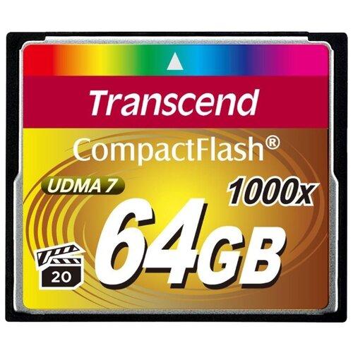 Фото - Карта памяти Transcend TS*CF1000 64 GB, чтение: 160 MB/s, запись: 120 MB/s карта памяти transcend ts sdxc10 128 gb запись 16 mb s