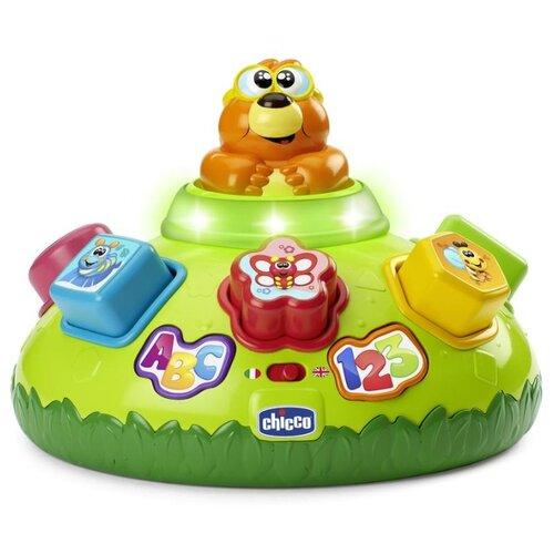 Купить Интерактивная развивающая игрушка Chicco Говорящий крот зеленый, Развивающие игрушки