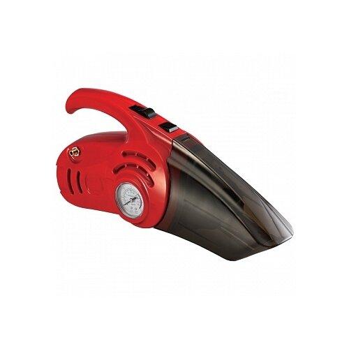 Пылесос автомобильный ZiPOWER PM-6510, красный/черный