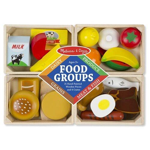 Купить Набор продуктов Melissa & Doug Food Groups 271 разноцветный, Игрушечная еда и посуда