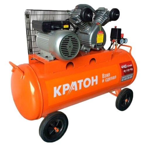 Компрессор масляный Кратон AC-440-100-BDV, 100 л, 2.2 кВт компрессор масляный кратон ac 360 100 ddv 100 л 2 2 квт