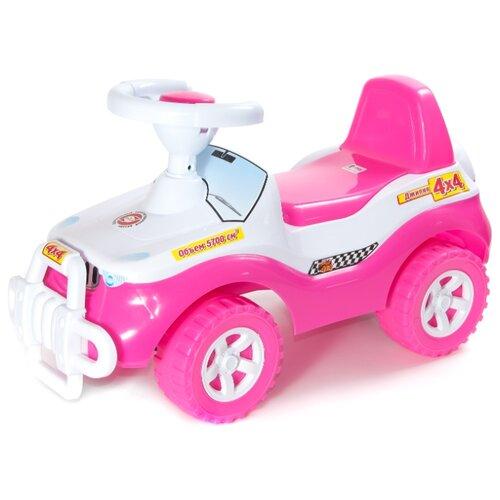 Купить Каталка-толокар Orion Toys Джипик (105) со звуковыми эффектами розовый, Каталки и качалки