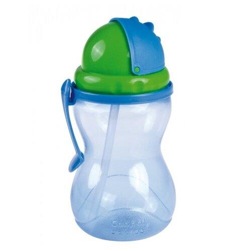 Поильник с трубочкой Canpol Babies 56/113, 370 мл синий/зеленый